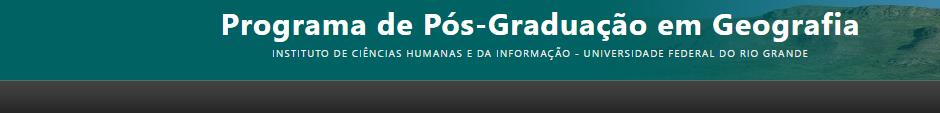 Programa de Pós-Graduação em Geografia - PPGGEO FURG